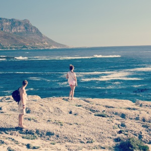 admiring the view on a cliff between Camps Bay and Clifton Beach. Photo credit Marc Benson