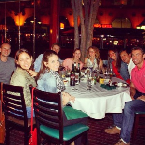 Dinner at Butcher. From front of table going clockwise: Lauren, Jenny, Jason, Mike, me, Molly, Alyssa, Brian, Marc